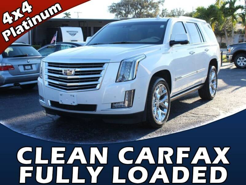 2018 Cadillac Escalade for sale at Palm Beach Auto Wholesale in Lake Park FL