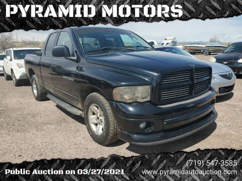 2002 Dodge Ram Pickup 1500 for sale at PYRAMID MOTORS - Pueblo Lot in Pueblo CO