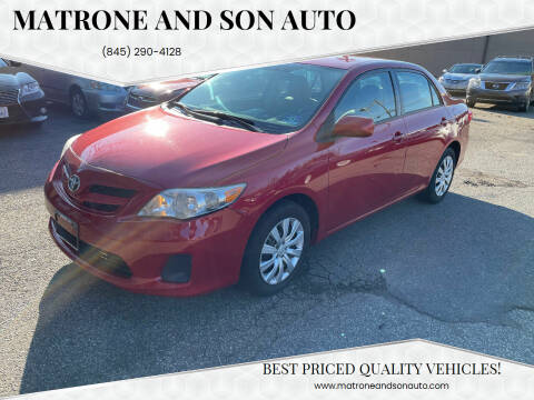 2012 Toyota Corolla for sale at Matrone and Son Auto in Tallman NY