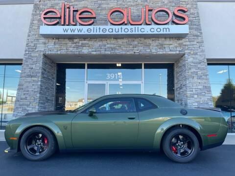 2018 Dodge Challenger SRT Demon F8 GREEN for sale at Elite Autos LLC in Jonesboro AR