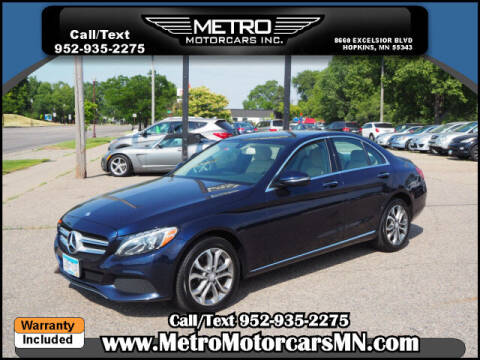 2016 Mercedes-Benz C-Class for sale at Metro Motorcars Inc in Hopkins MN