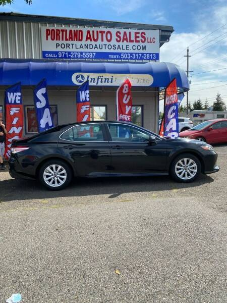 2018 Toyota Camry for sale at PORTLAND AUTO SALES LLC. in Portland OR