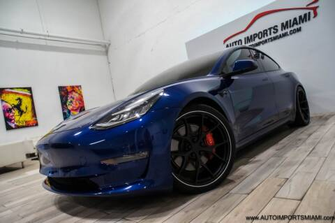 2020 Tesla Model 3 for sale at AUTO IMPORTS MIAMI in Fort Lauderdale FL