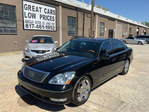 2005 Lexus LS 430 for sale at BARCLAY MOTOR COMPANY in Arlington TX