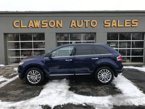 2011 Lincoln MKX for sale at Clawson Auto Sales in Clawson MI