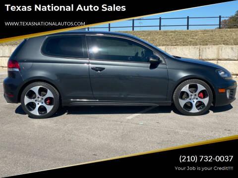 2013 Volkswagen GTI for sale at Texas National Auto Sales in San Antonio TX