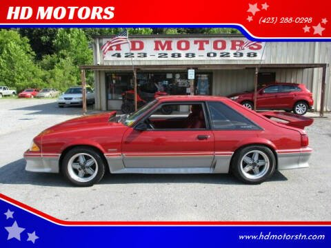 1987 Ford Mustang for sale at HD MOTORS in Kingsport TN
