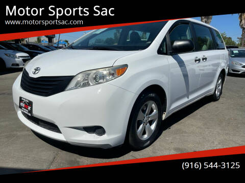 2013 Toyota Sienna for sale at Motor Sports Sac in Sacramento CA