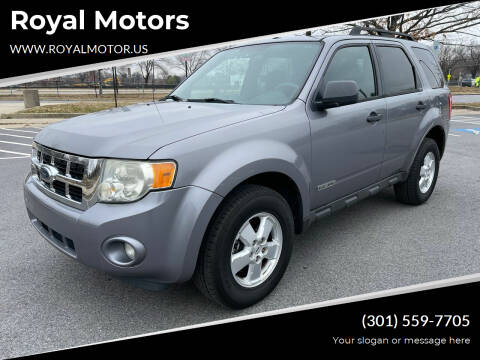 2008 Ford Escape for sale at Royal Motors in Hyattsville MD