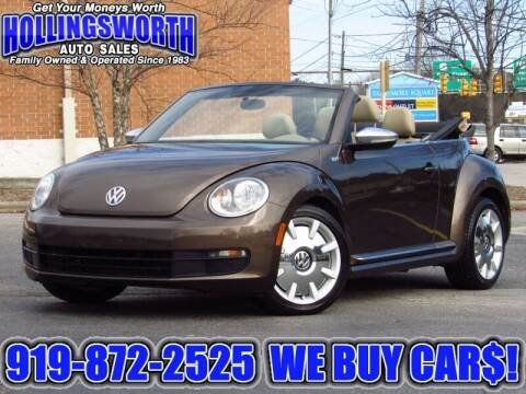 2013 Volkswagen Beetle Convertible for sale at Hollingsworth Auto Sales in Raleigh NC