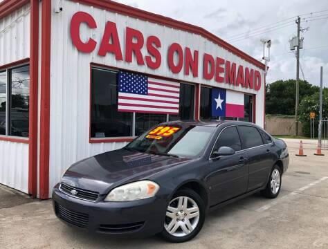 2008 Chevrolet Impala for sale at Cars On Demand 2 in Pasadena TX