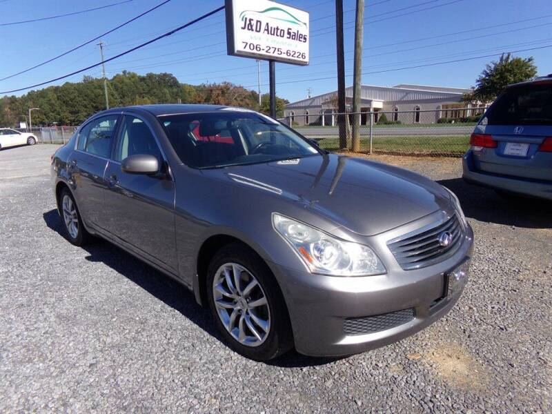 2008 Infiniti G35 for sale at J & D Auto Sales in Dalton GA