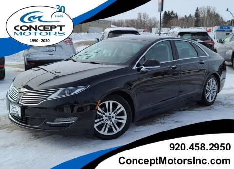 2015 Lincoln MKZ for sale at CONCEPT MOTORS INC in Sheboygan WI