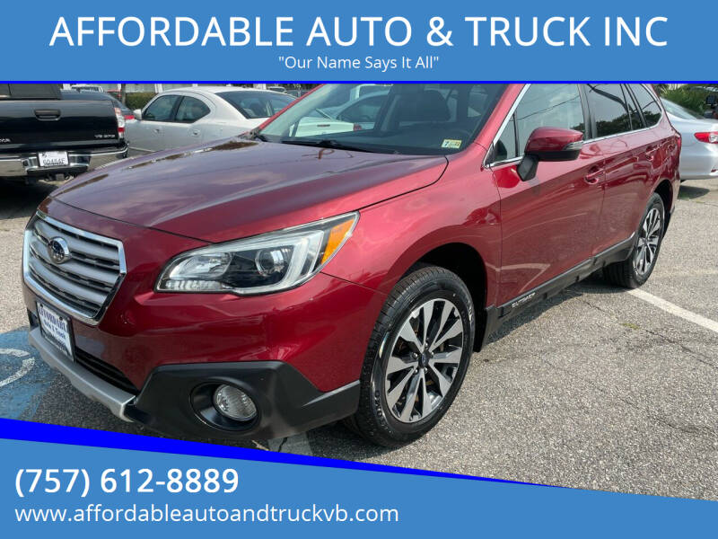 2016 Subaru Outback for sale at AFFORDABLE AUTO & TRUCK INC in Virginia Beach VA