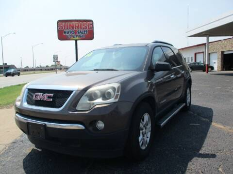 2008 GMC Acadia for sale at Sunrise Auto Sales in Liberal KS