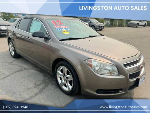 2012 Chevrolet Malibu for sale at LIVINGSTON AUTO SALES in Livingston CA