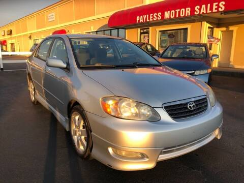 2007 Toyota Corolla for sale at Payless Motor Sales LLC in Burlington NC