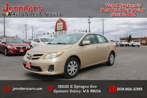 2011 Toyota Corolla for sale at Jennifer's Auto Sales in Spokane Valley WA