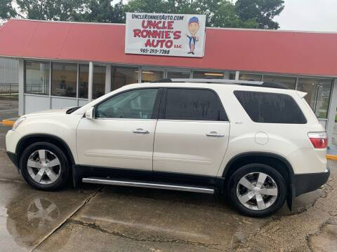 2011 GMC Acadia for sale at Uncle Ronnie's Auto LLC in Houma LA