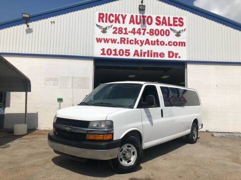 2013 Chevrolet Express Passenger for sale at Ricky Auto Sales in Houston TX