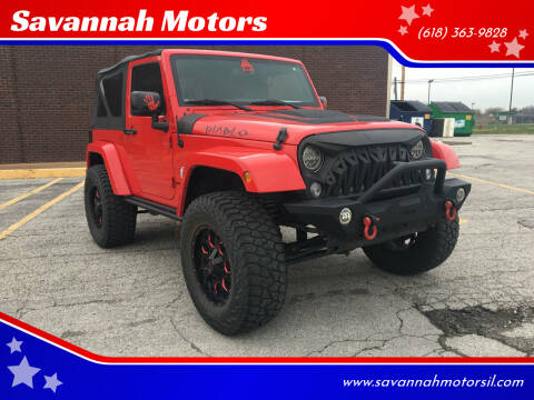 2015 Jeep Wrangler for sale at Savannah Motors in Cahokia IL