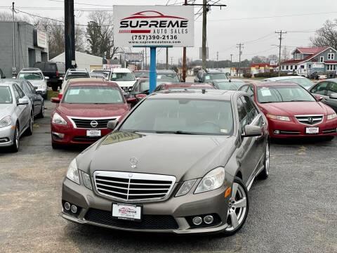 2010 Mercedes-Benz E-Class for sale at Supreme Auto Sales in Chesapeake VA