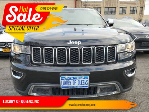 2017 Jeep Grand Cherokee for sale at LUXURY OF QUEENS,INC in Long Island City NY