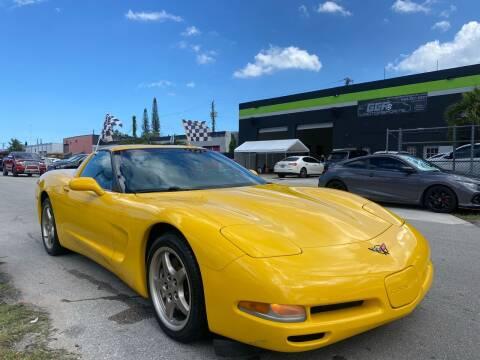 2002 Chevrolet Corvette for sale at GCR MOTORSPORTS in Hollywood FL