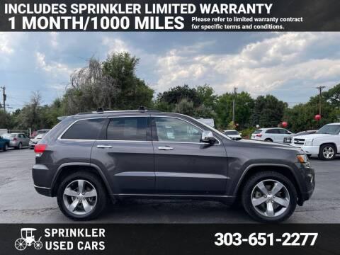 2014 Jeep Grand Cherokee for sale at Sprinkler Used Cars in Longmont CO