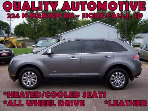 2010 Lincoln MKX for sale at Quality Automotive in Sioux Falls SD
