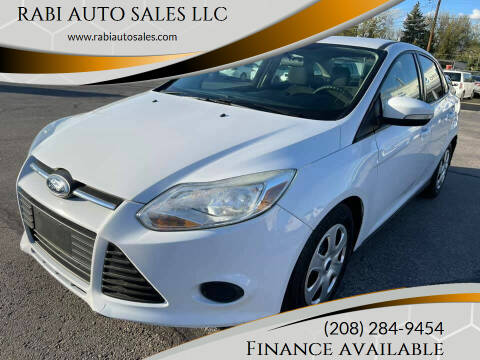 2014 Ford Focus for sale at RABI AUTO SALES LLC in Garden City ID