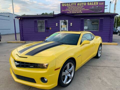 2011 Chevrolet Camaro for sale at Quality Auto Sales LLC in Garland TX
