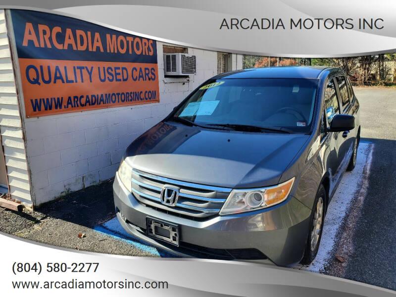 2012 Honda Odyssey for sale at ARCADIA MOTORS INC in Heathsville VA