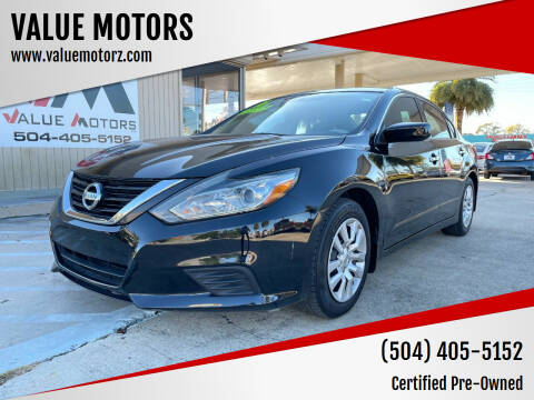 2016 Nissan Altima for sale at VALUE MOTORS in Kenner LA