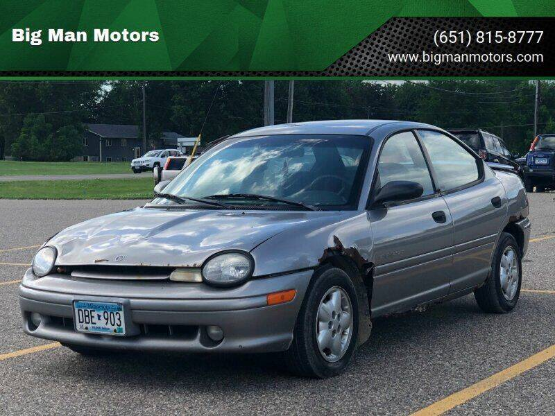 1998 Plymouth Neon for sale at Big Man Motors in Farmington MN