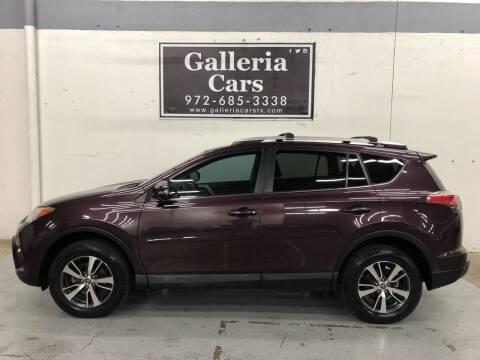 2016 Toyota RAV4 for sale at Galleria Cars in Dallas TX