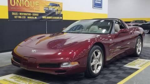 2003 Chevrolet Corvette for sale at UNIQUE SPECIALTY & CLASSICS in Mankato MN