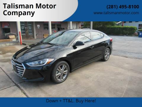 2017 Hyundai Elantra for sale at Talisman Motor Company in Houston TX