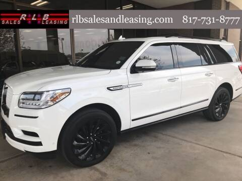 2020 Lincoln Navigator L for sale at RLB Sales and Leasing in Fort Worth TX