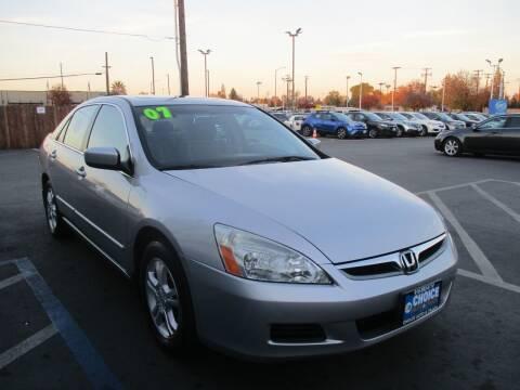 2007 Honda Accord for sale at Choice Auto & Truck in Sacramento CA