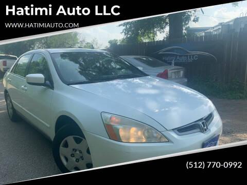 2005 Honda Accord for sale at Hatimi Auto LLC in Buda TX