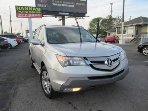 2009 Acura MDX for sale at Hanna's Auto Sales in Indianapolis IN