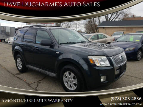 2009 Mercury Mariner for sale at Dave Ducharme's Auto Sales in Lowell MA
