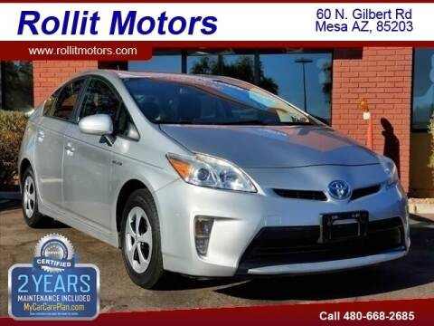 2012 Toyota Prius for sale at Rollit Motors in Mesa AZ
