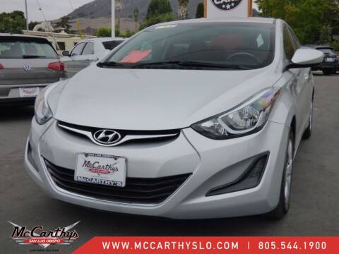 2016 Hyundai Elantra for sale at McCarthy Wholesale in San Luis Obispo CA