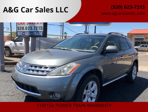 2006 Nissan Murano for sale at A&G Car Sales  LLC in Tucson AZ