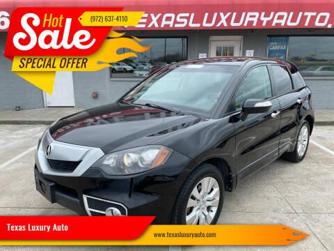 2010 Acura RDX for sale at Texas Luxury Auto in Cedar Hill TX