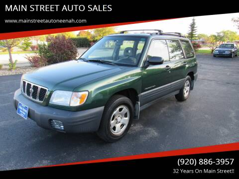 2002 Subaru Forester for sale at MAIN STREET AUTO SALES in Neenah WI