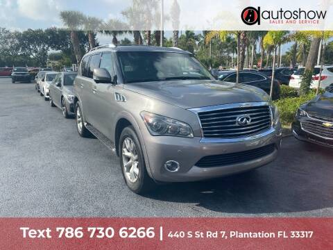 2014 Infiniti QX80 for sale at AUTOSHOW SALES & SERVICE in Plantation FL