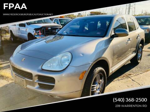 2006 Porsche Cayenne for sale at FPAA in Fredericksburg VA
